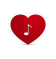 Love heart music note vector