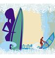 Vertor abstract frame surf beach vector