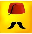 Red turkish hat vector