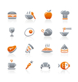 Food icons set 1 graphite series vector