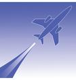 Airplane in flight vector