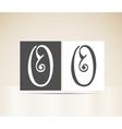 Retro alphabet letter o art deco vintage design vector
