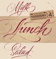 Vintage menu headlines set vector