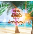 Summer typography holidays template vector