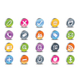3d web icons vector