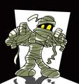 Cartoon spooky mummy vector