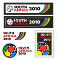 World soccer cup 2010 banners vector