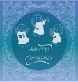 Rich ornate christmas background with singing vector