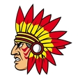 Native indian people with feathers vector