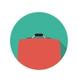 Flat design concept suitcase with long shado vector