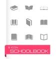 Schoolbook icons set vector