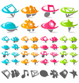 Swoosh social media icons vector
