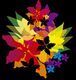 Bright abstract flowers vector