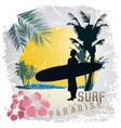 Surf paradise vector