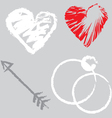 Romantic design elements vector