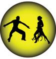 Dance people silhouette vector