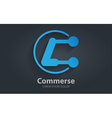 Abstract logo design template letter c corporate vector