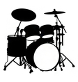 Drum kit silhouette vector
