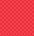 Red background polka fabric with white little dots vector