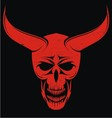 Red evils head vector