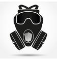 Silhouette symbol of gas mask respirator vector