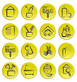 Real estate home icons vector