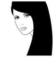 Girl face fashion model vector