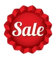 Sale tag red round star sticker vector