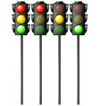 Pedestrian traffic lights vector