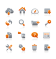 Ftp hosting icons graphite series vector