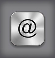 Mail icon - metal app button vector