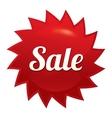 Sale twist tag red round star sticker vector