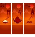 Japanese culture banners or bookmarks collection vector