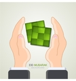 Ketupat element design vector