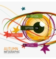 Autumn option infographics and human eye vector