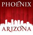 Phoenix arizona city skyline silhouette vector