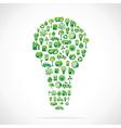 Creative bulb design vector