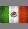 Flag of mexico mosaic vector