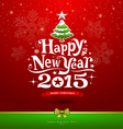 Happy new year 2015 text design background vector
