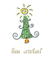 Doodle christmas tree vector