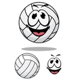 Happy cartoon volleyball vector