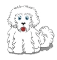 Cute fluffy cartoon dog vector