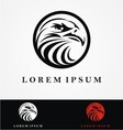 Eagle head logo design vector