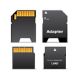 Digital flash memory mini card vector