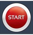 Start button round sticker metallic icon vector