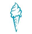Doodle sketch ice cream cone vector