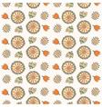 Seamless color decorative flower vector