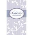 Vintage frame on blue seamless floral background vector
