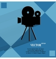 Videocamera flat modern web button on a flat vector