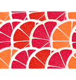 Grapefruit segments seamless background vector